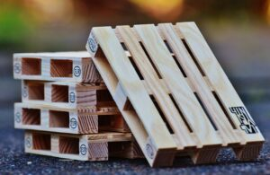 euro pallets, wood, stack